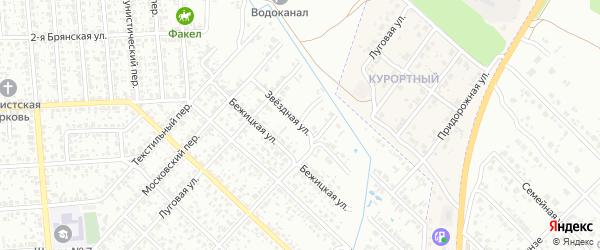 Звездная улица на карте Клинцов с номерами домов