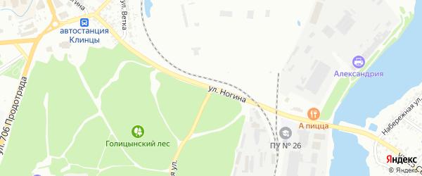 Улица Ногина на карте Клинцов с номерами домов