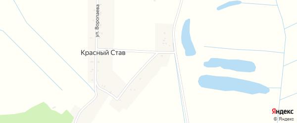 Улица Воропаева на карте поселка Красного Става с номерами домов