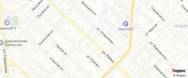 Переулок 1-й Кирова на карте Клинцов с номерами домов