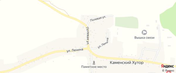 Полевая улица на карте села Каменского Хутора с номерами домов
