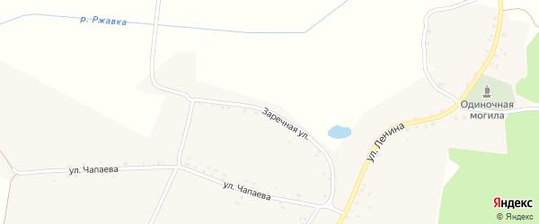 Заречная улица на карте села Сытой Буды с номерами домов