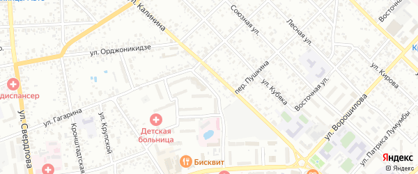 Улица Лесной Двор на карте Клинцов с номерами домов