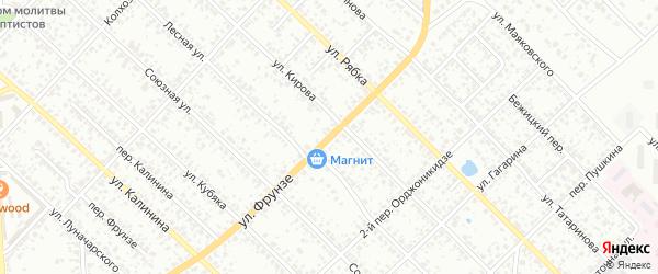 Улица Фрунзе на карте Клинцов с номерами домов