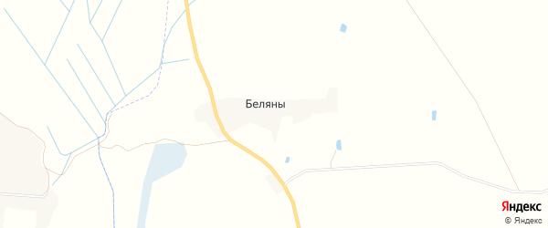 Карта деревни Беляны в Брянской области с улицами и номерами домов