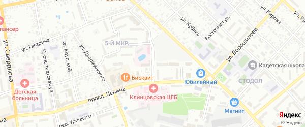 Улица Скоробогатова на карте Клинцов с номерами домов