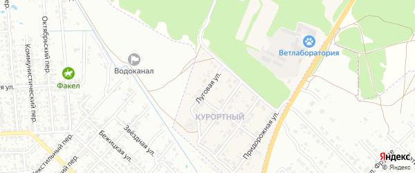 Луговая улица на карте поселка Вьюнки с номерами домов