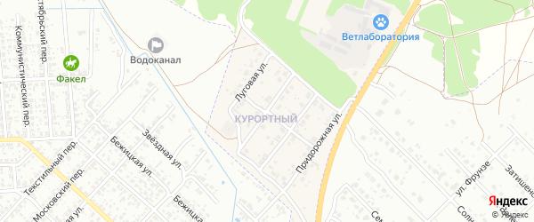 Цветочная улица на карте поселка Вьюнки с номерами домов