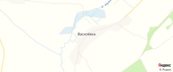 Карта деревни Василевки в Брянской области с улицами и номерами домов