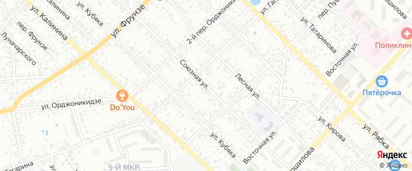 Союзная улица на карте Клинцов с номерами домов