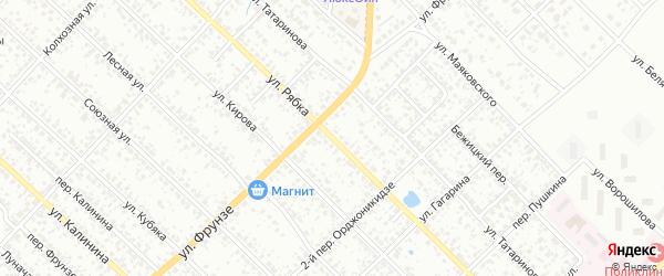Улица Рябка на карте Клинцов с номерами домов