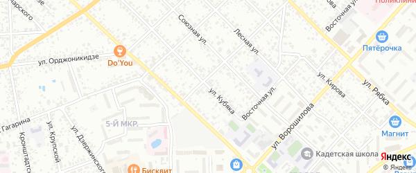Улица Кубяка на карте Клинцов с номерами домов