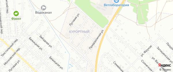 Курортная улица на карте поселка Вьюнки с номерами домов