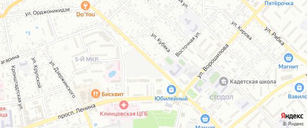 Улица Калинина на карте Клинцов с номерами домов