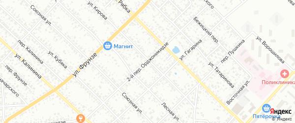 Переулок 2-й Орджоникидзе на карте Клинцов с номерами домов