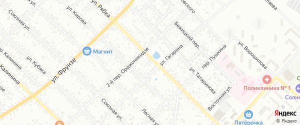 Совхозный тупик на карте Клинцов с номерами домов