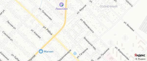 Проезд Маяковского на карте Клинцов с номерами домов