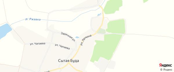 Карта села Сытой Буды в Брянской области с улицами и номерами домов