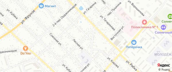 Переулок Пушкина на карте Клинцов с номерами домов
