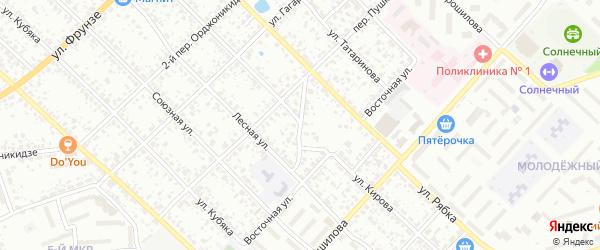 Переулок 1-й Ворошилова на карте Клинцов с номерами домов