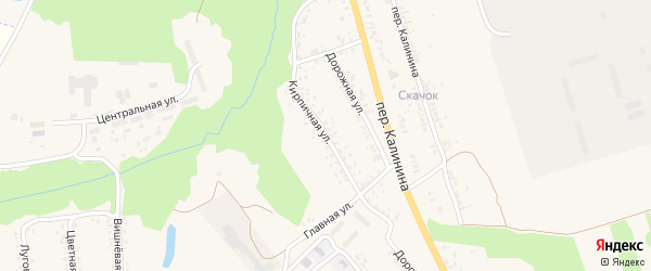 Кирпичная улица на карте села Займища с номерами домов