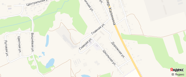 Главная улица на карте села Займища с номерами домов