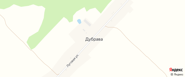 Луговая улица на карте поселка Дубравы с номерами домов