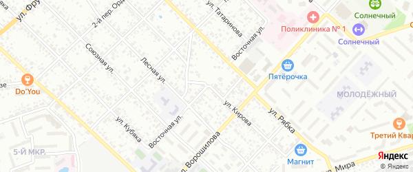 Восточная улица на карте Клинцов с номерами домов