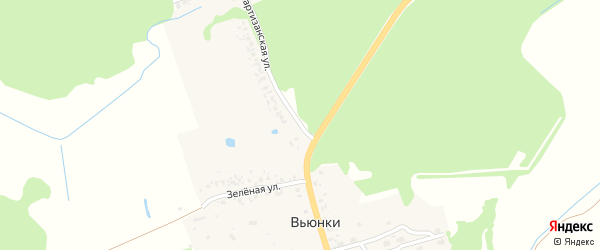 Партизанская улица на карте поселка Вьюнки с номерами домов