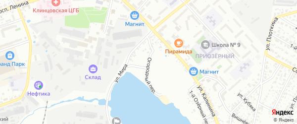 Огородный переулок на карте Клинцов с номерами домов