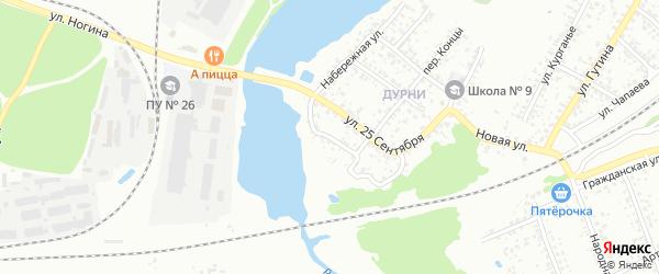 Переулок Низы на карте Клинцов с номерами домов