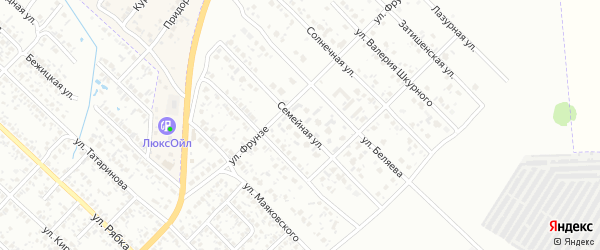 Семейная улица на карте Клинцов с номерами домов