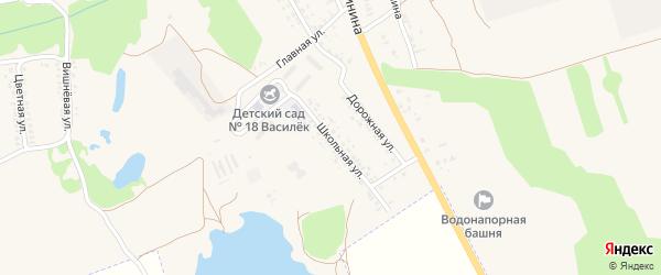 Школьная улица на карте села Займища с номерами домов