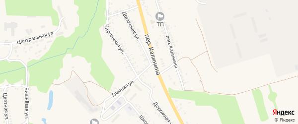 Дорожная улица на карте села Займища с номерами домов