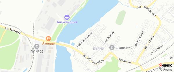 Набережная улица на карте Клинцов с номерами домов