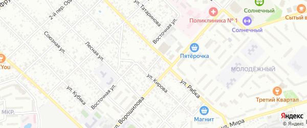 Переулок Кирова на карте Клинцов с номерами домов
