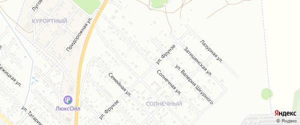 Солнечная улица на карте поселка Вьюнки с номерами домов