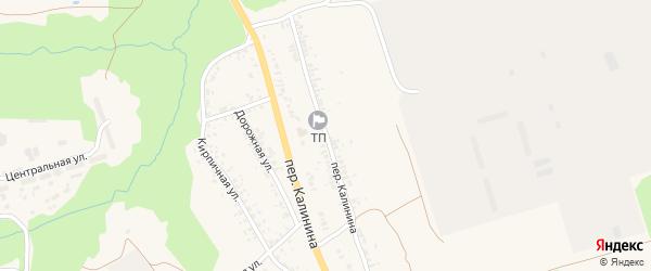 Переулок Калинина на карте села Займища с номерами домов