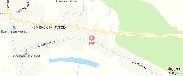 Улица Ленина на карте села Каменского Хутора с номерами домов