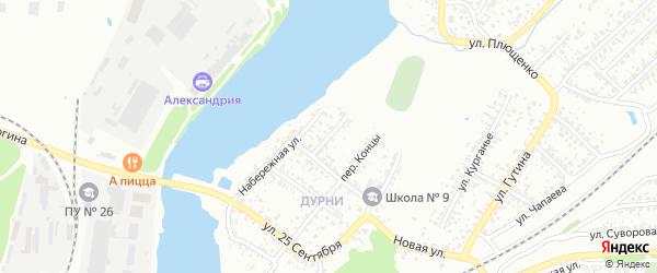Садовый переулок на карте Клинцов с номерами домов