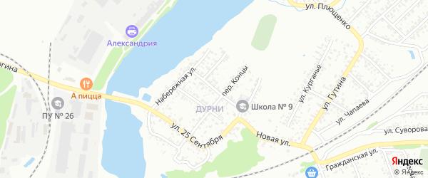 Школьная улица на карте Клинцов с номерами домов