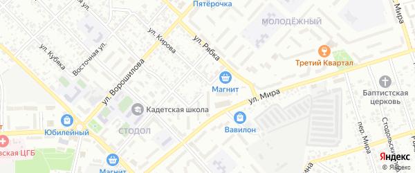 Электроцентральный переулок на карте Клинцов с номерами домов