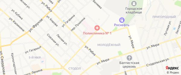Территория ПК Текмаш-2 на карте улицы Ворошилова с номерами домов