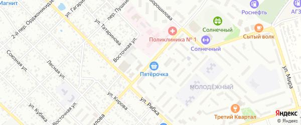 Улица Ворошилова на карте Клинцов с номерами домов