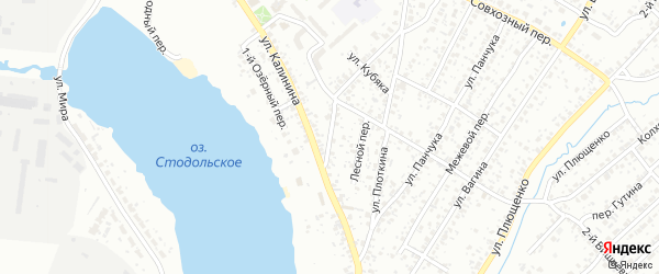 Фабричный переулок на карте Клинцов с номерами домов