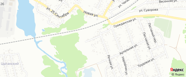 Речной переулок на карте Клинцов с номерами домов