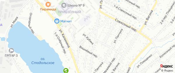 Вишневая улица на карте Клинцов с номерами домов