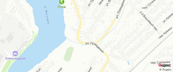 Ардонский переулок на карте Клинцов с номерами домов