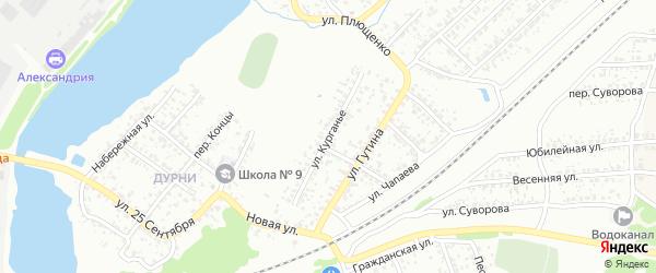 Улица Курганье на карте Клинцов с номерами домов