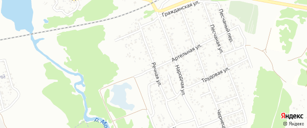 Речная улица на карте Клинцов с номерами домов